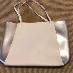 Handbags - Brand New White and Silver Tote Bag